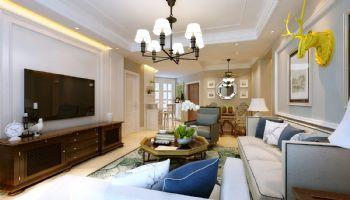 盛世名筑130平米现代美式风格美式风格三居室