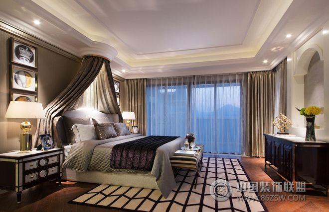 天巒湖二期頂層復式樣板間設計臥室裝修圖片