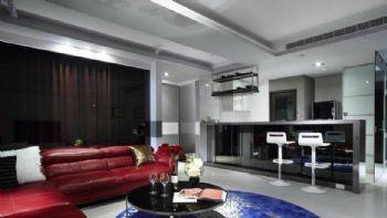 二室二廳現代公寓裝修現代客廳裝修圖片