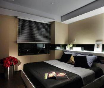 二室二廳現代公寓裝修現代臥室裝修圖片