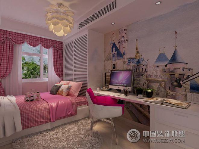 现代前卫色彩四居设计图-儿童房装修图片
