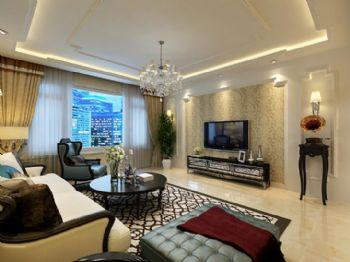 力旺康城6现代风格二居室