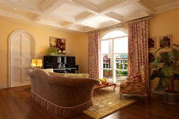皇冠乡村美式美式风格三居室