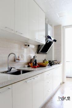 【久棲設計】北京中戶型打造文藝清新風混搭廚房裝修圖片