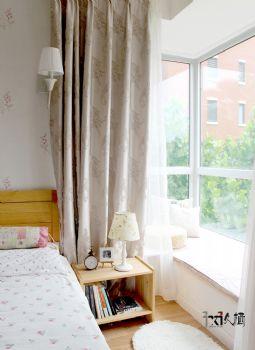 【久棲設計】北京中戶型打造文藝清新風混搭臥室裝修圖片