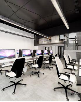 【久棲設計】北京果嶺里class底商辦公空間設計 工業主義風格