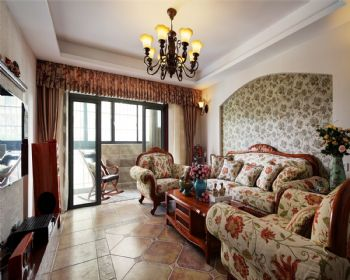 红星国际田园风格三居室