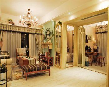 红星国际12田园客厅装修图片