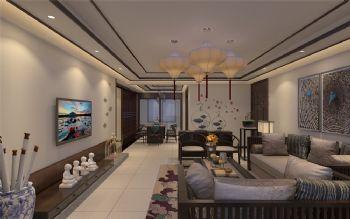 西安元本设计-沁园春 居新中式样板间中式风格大户型