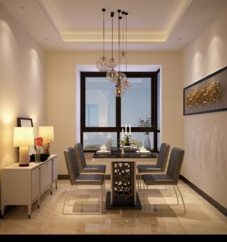 月亮湾3-2-1404现代风格三居室