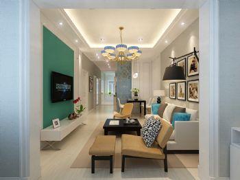 美式93平米两居设计图美式客厅装修图片