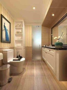 美式風格88平米裝修效果圖美式衛生間裝修圖片