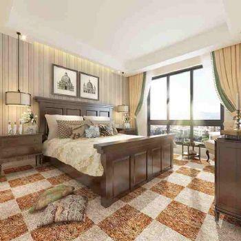 美式风格88平米装修效果图美式卧室装修图片