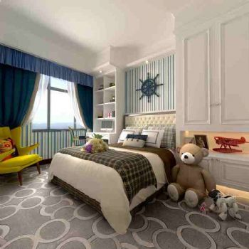 美式風格88平米裝修效果圖美式臥室裝修圖片