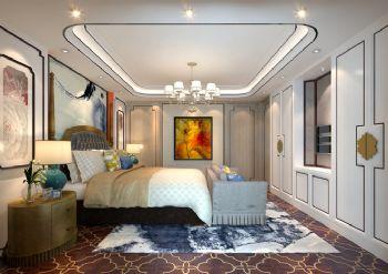 240平米新中式风格别墅设计图中式卧室装修图片