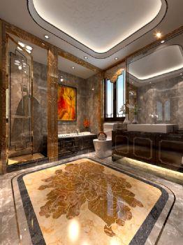 240平米新中式风格别墅设计图中式卫生间装修图片