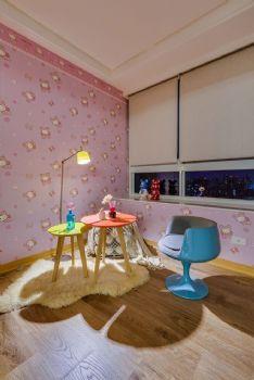 明亮色彩简约三居装修案例现代儿童房装修图片