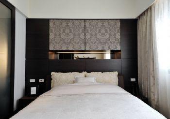120平时尚简约风格三居简约卧室装修图片