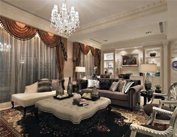京汉君庭古典风格三居室