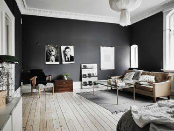 57平米黑白小户型设计案例