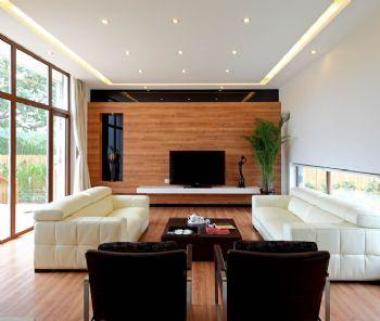 新中式风格别墅设计案例中式客厅装修图片