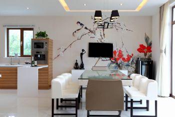 新中式风格别墅设计案例中式餐厅装修图片