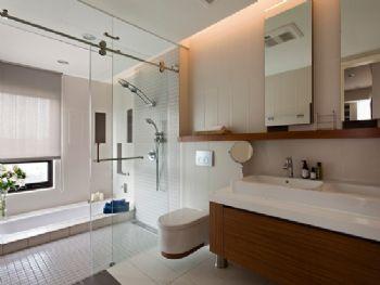 明亮简约大户型设计简约卫生间装修图片