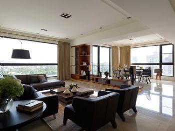 明亮简约大户型设计简约客厅装修图片