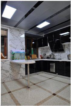 136平米低调欧式设计三居欧式厨房装修图片