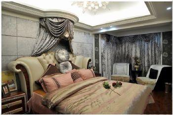 136平米低调欧式设计三居欧式卧室装修图片