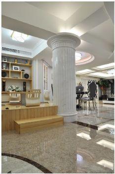 136平米低调欧式设计三居欧式餐厅装修图片