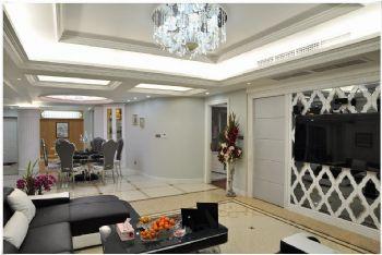 136平米低调欧式设计三居欧式客厅装修图片