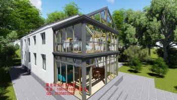 复式阳光房设计效果图欧式风格别墅