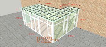 D3420阳光房设计效果图简简约风格公寓