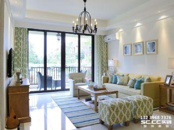 兰州实创装饰海德堡95㎡精致美式三居案例美式风格二居室