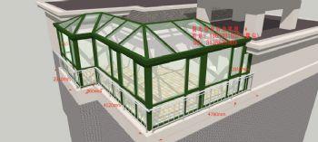 D3627阳光房设计效果图简地中海风格公寓