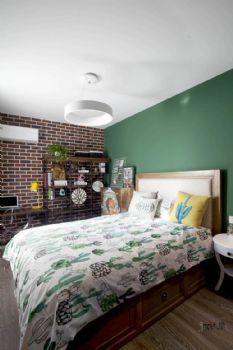 【久栖设计】上元君庭丨仙人掌的休闲时光美式风格二居室