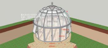 球型顶阳光房设计效果图简欧式风格别墅