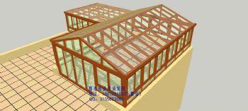 D4628双坡阳光房设计效果图简地中海风格别墅