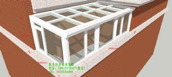 D3800露台阳光房设计效果图简简约风格公寓