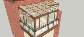 D6613露台阳光房设计效果图简约风格别墅