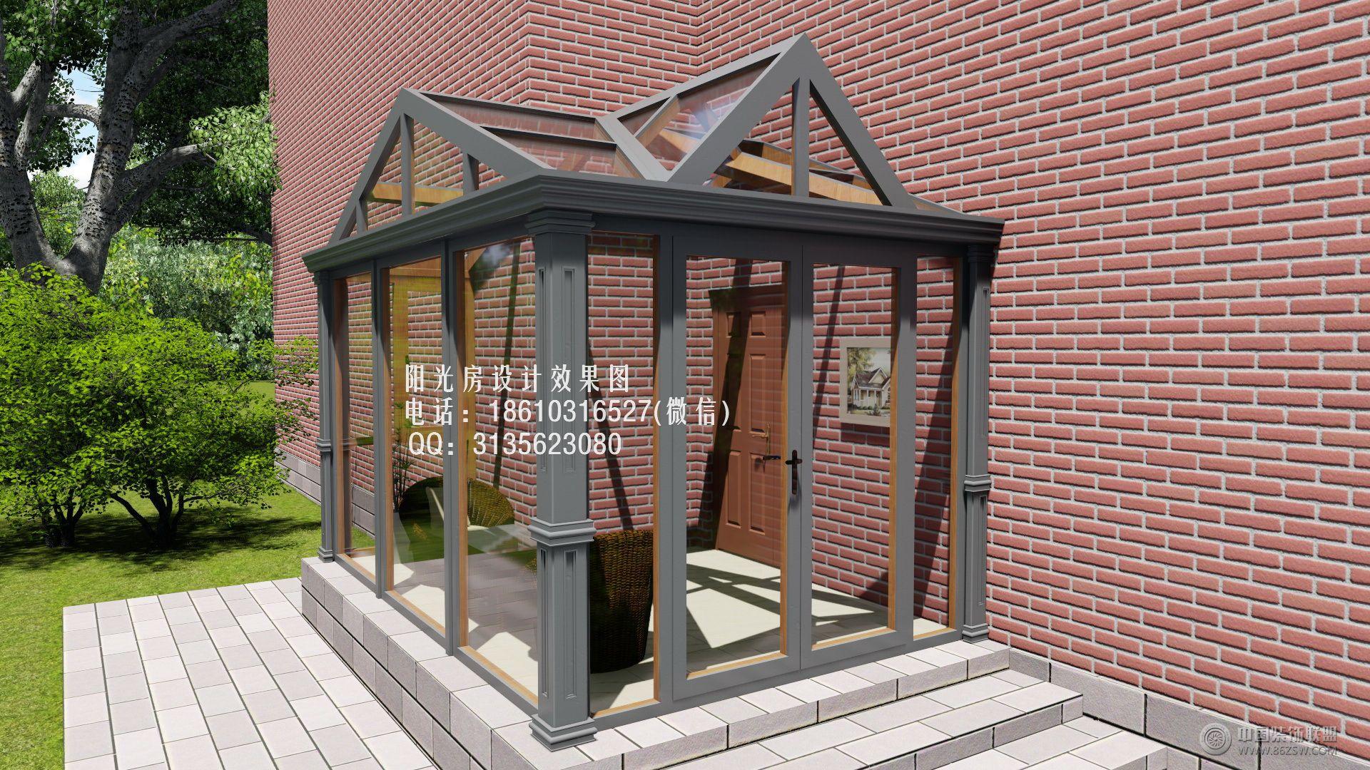 d6715欧式阳光房设计效果图-客厅装修图片