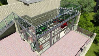 D8516平顶阳光房设计效果图现代风格别墅