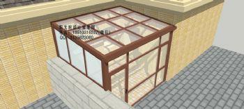 D8631断桥铝阳光房设计效果图简简约风格公寓