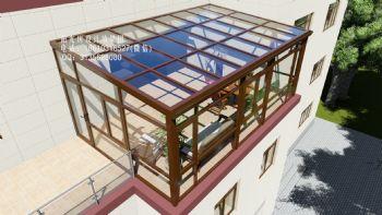 D4902露台阳光房设计效果图现代简约风格错层