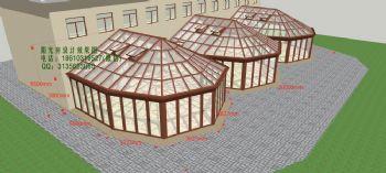D4217大型阳光房设计效果图简现代简约风格公寓