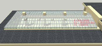 D6026大型阳光顶设计效果图简现代风格别墅