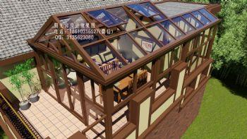 D6910露台人字顶阳光房设计效果图现代简约风格错层