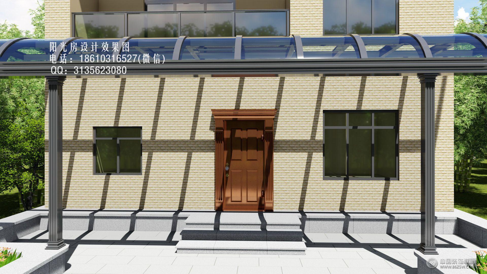 玻璃雨棚设计效果图-客厅装修图片