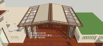 D9006阳光房遮阳蓬设计效果图简混搭风格大户型